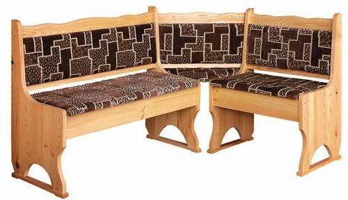 dřevěná rohová jídelní lavice z masivního dřeva borovice drewfilip 2