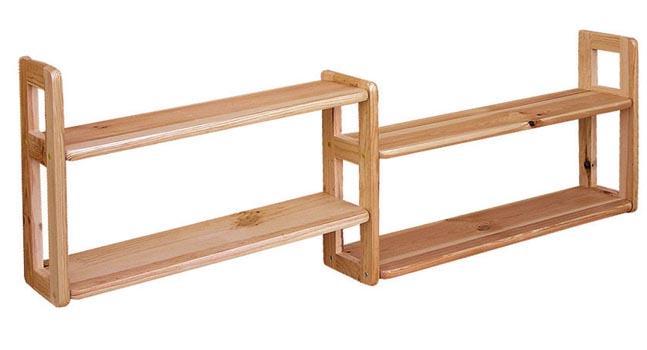 dřevěná závěsná polička z masivního dřeva borovice drewfilip 14