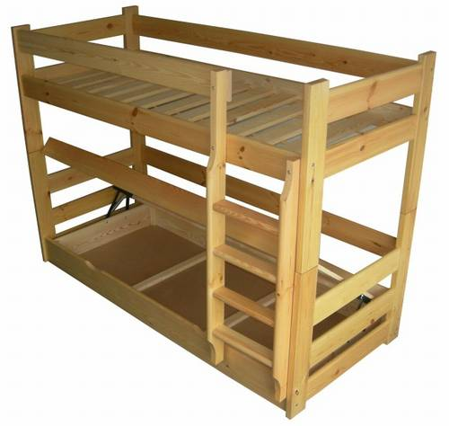 patrová postel z masivu ,palanda HIT chalup
