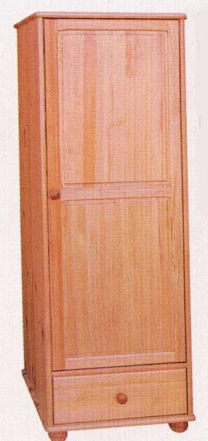šatní skříň jedno dvířková z masivního dřeva borovice drewfilip 20 Szafa I 1D/1S bieliźniarka