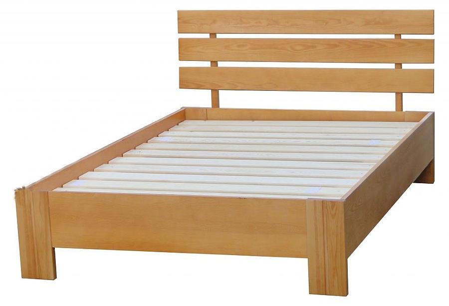 dřevěná dvojlůžková postel z masivního dřeva Symfonia chalup