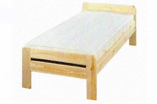 dřevěná jednolůžková postel z masivního dřeva Tulon chalup