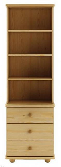 dřevěná vitrína, knihovna, z masivního dřeva borovice KW128 pacyg