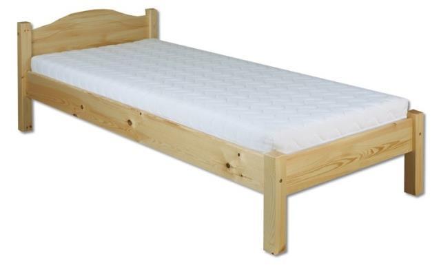 dřevěná jednolůžková postel z masivního dřeva LK124