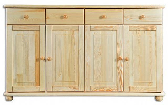 dřevěná kuchyňská skříňka dolní z masivního dřeva borovice KD165 pacyg