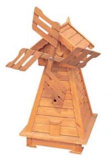 dřevěný zahradní dekorační větrný mlýn drewfilip 68