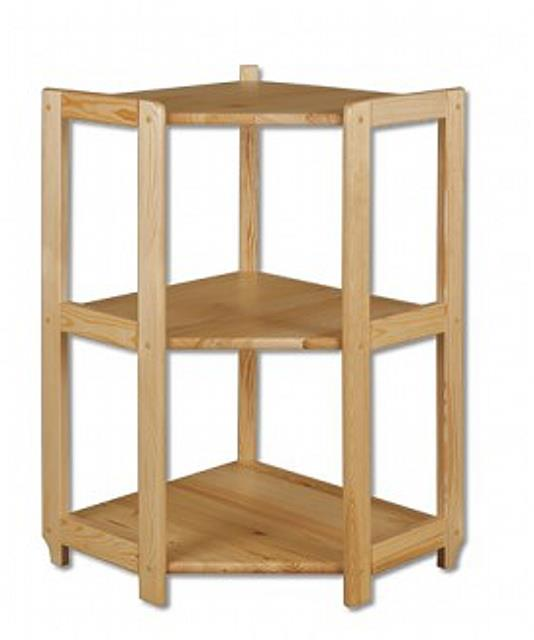 dřevěný rohový regál z masivního dřeva borovice RG102 pacyg