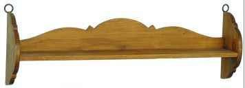 rustikální závěsná polička stylová z masivního dřeva borovice Mexicana ACC54 euromeb
