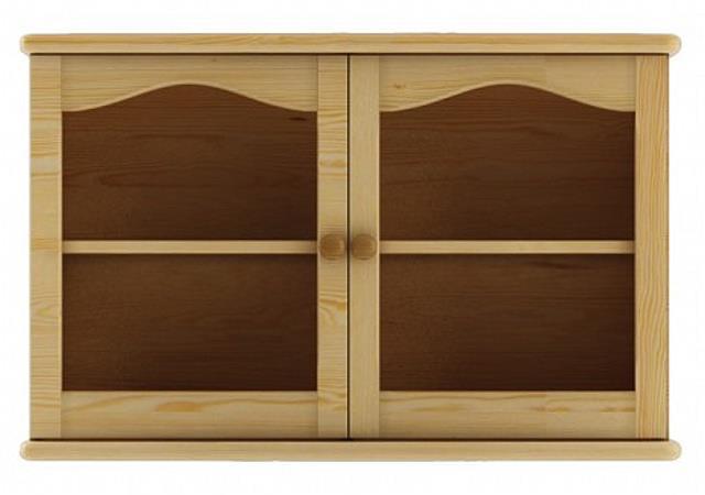 dřevěná horní prosklená skříňka ke kredenci nebo příborníků KW105 pacyg