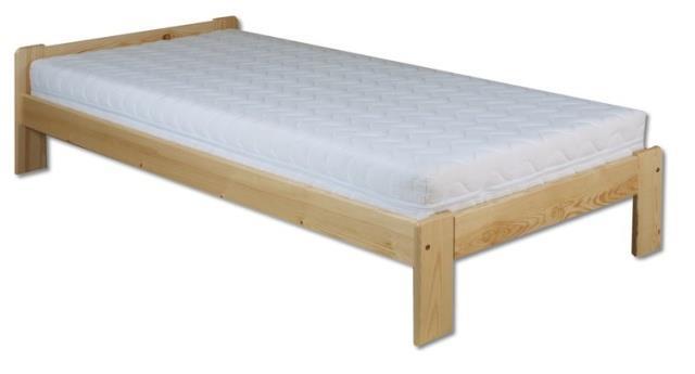 dřevěná jednolůžková postel z masivního dřeva LK123