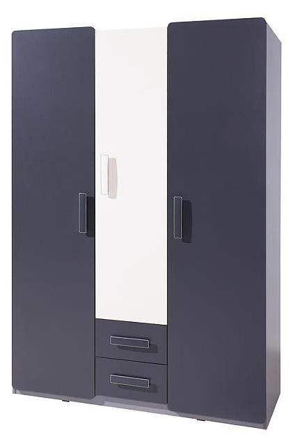 moderní šatní skříň z dřevotřísky Lido LSZ3D2SZ gib