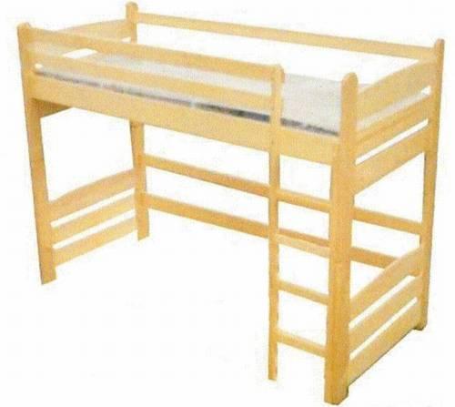 patrová postel z masivu, palanda Junior chalup