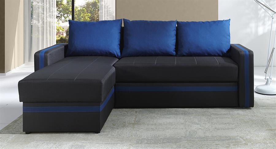 moderní rohová sedací souprava Euforia duo gib modrá