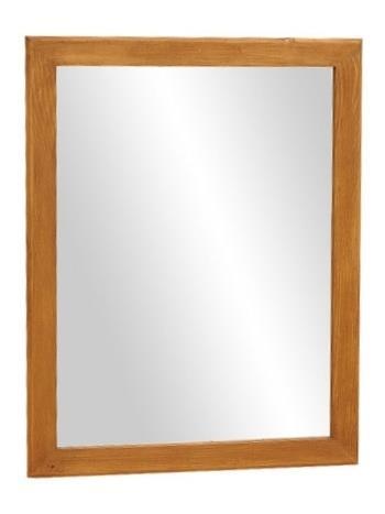 dřevěné rustikální stylové zrcadlo z masivního dřeva borovice Mexicana ACC55 euromeb