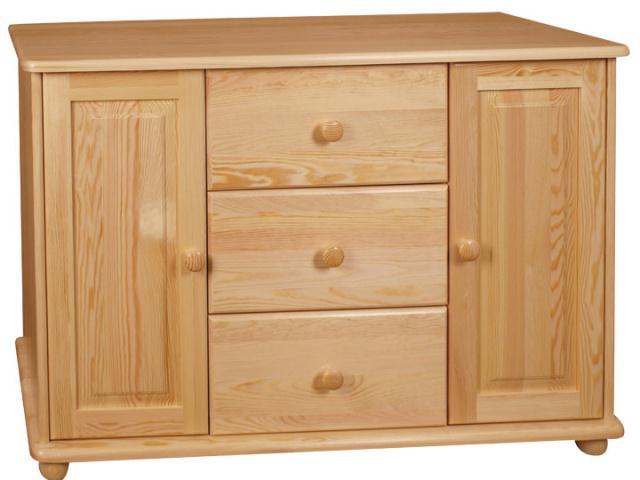 dřevěná komoda, prádelník z masivního dřeva borovice drewfilip 35