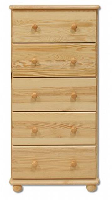 dřevěná komoda, prádelník z masivního dřeva borovice KD115 pacyg