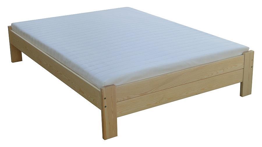 dřevěná jednolůžková postel z masivního dřeva Awinion chalup