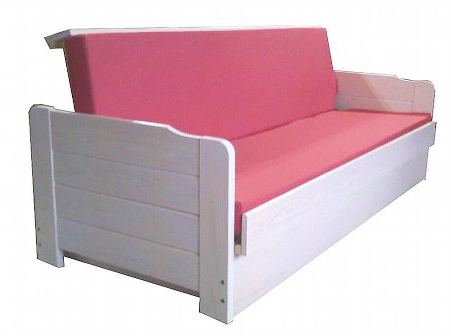 dřevěná moderní pohovka rozkládací, včetně matrace Max110 chalup