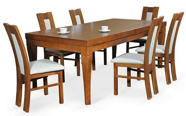 moderní jídelní dřevěný rozkládací stůl S26 chojm
