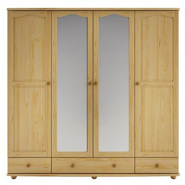 dřevěná šatní skříň z masivního dřeva borovice SF120 pacyg
