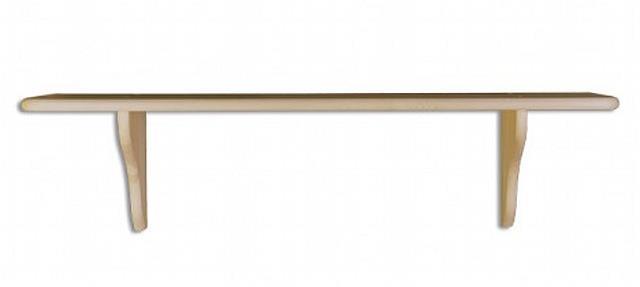 dřevěná závěsná polička z masivního dřeva borovice PK120 pacyg