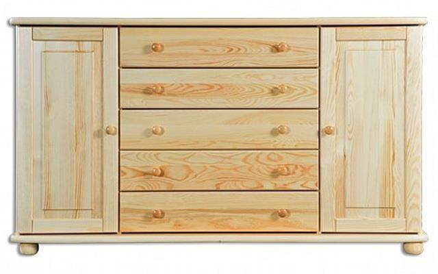 dřevěná komoda, prádelník z masivního dřeva borovice KD164 pacyg