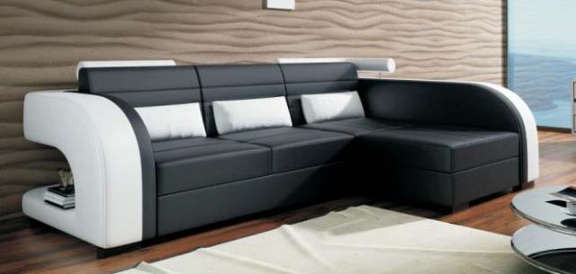 moderní rohová kožená sedací souprava Vivus LM chojm