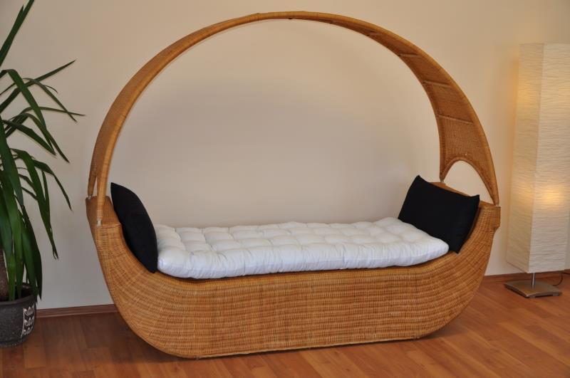 Ratanová odpočinková pohovka/postel Kayak axi