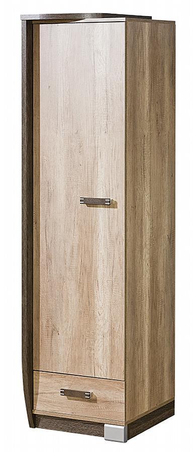 moderní šatní skříň z dřevotřísky R17 L/P Romero dolm