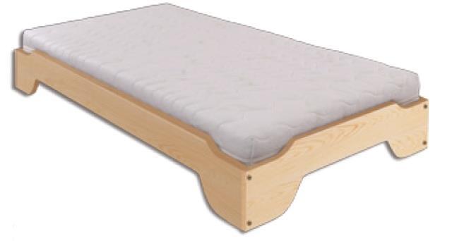 dřevěná jednolůžková rozkládací postel z masivního dřeva LK138 pacyg