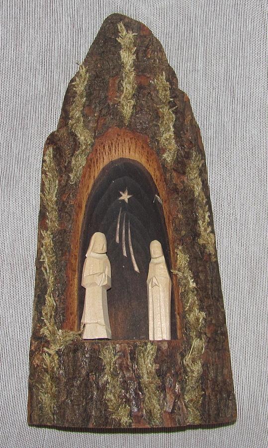 dřevěný vánoční dřevěný betlém mini dřevo