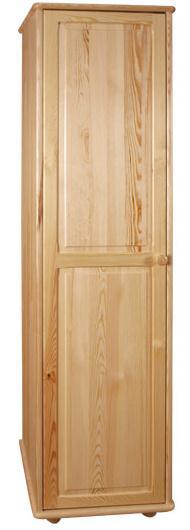 dřevěná šatní skříň jedno dvířková z masivního dřeva borovice drewfilip 19