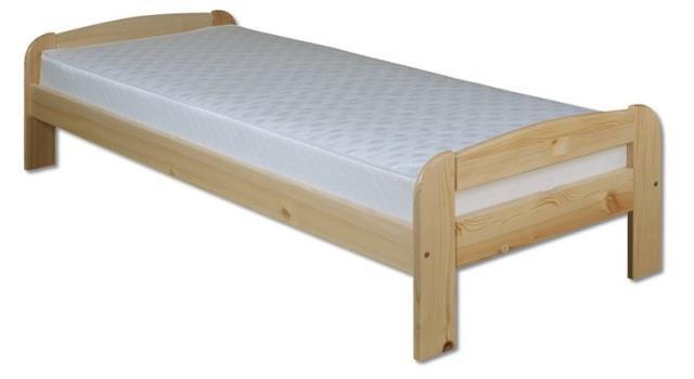 dřevěná jednolůžková postel z masivního dřeva LK122 pacyg