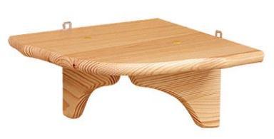 dřevěná rohová závěsná polička z masivního dřeva borovice drewfilip 68stř.