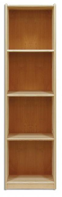 dřevěná knihovna, regál z masivního dřeva borovice KW130 pacyg