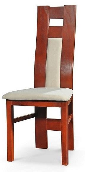 jídelní dřevěná čalouněná židle z masivu R63 chojm