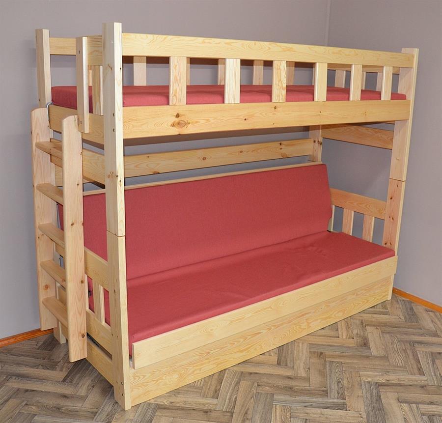 dřevěná patrová postel masivní rozkládací Floryda chalup