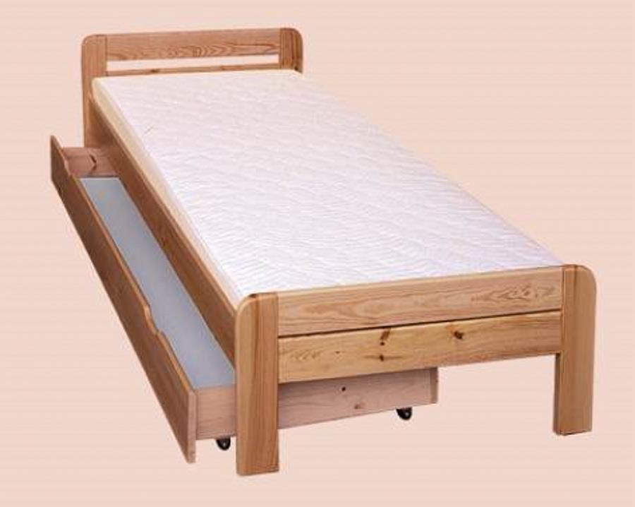 dřevěná jednolůžková postel z masivního dřeva drewfilip 4 R