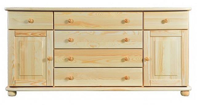 dřevěná komoda, prádelník z masivního dřeva borovice KD162 pacyg