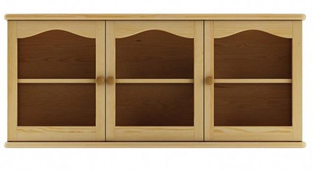 dřevěná horní prosklená skříňka ke kredenci nebo příborníků KW106 pacyg