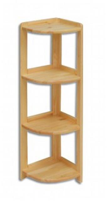 dřevěný rohový regál z masivního dřeva borovice RG134 pacyg