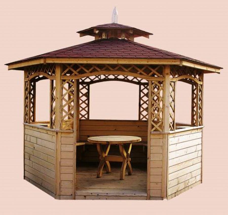 dřevěný zahradní altán zahradní dekorace drewfilip 7