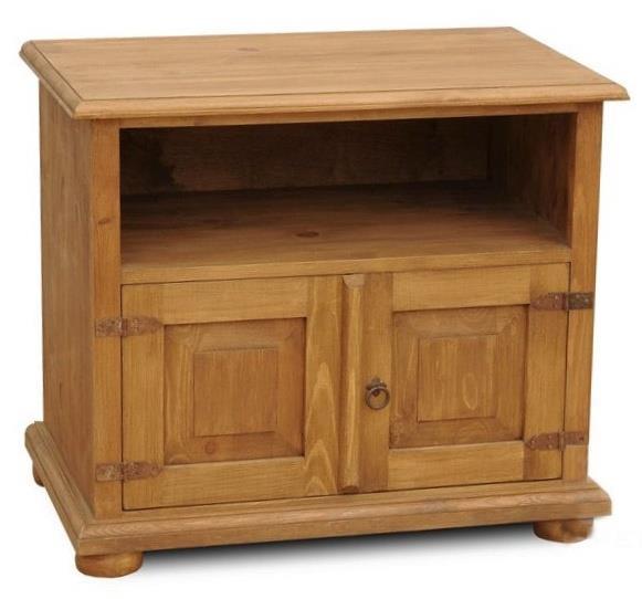 dřevěná rustikální stylová komoda z masivního dřeva borovice Mexicana D31 euromeb