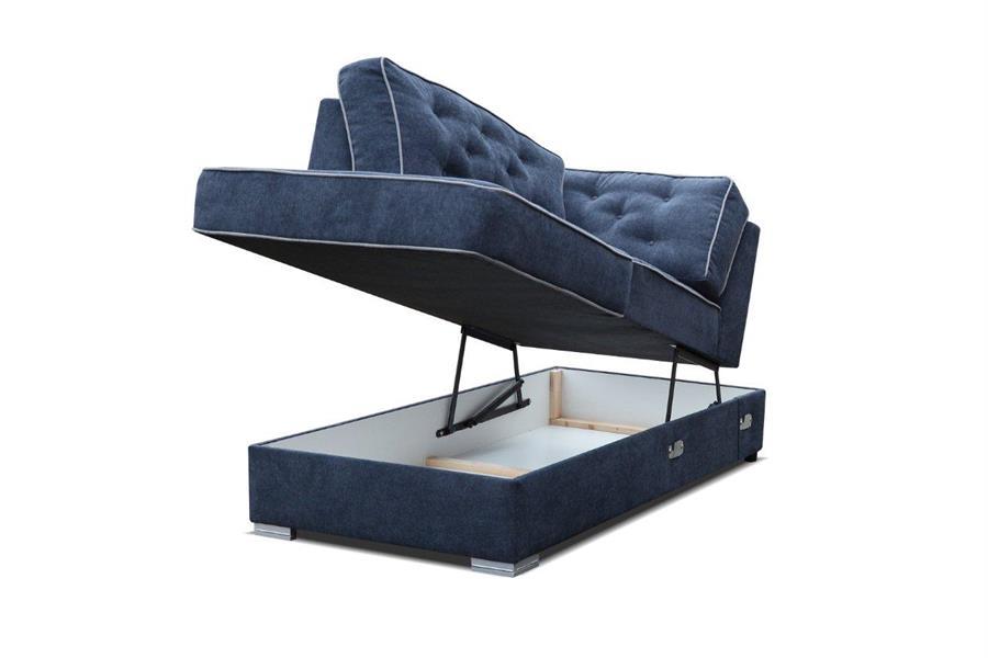 moderní čalouněna pohovka Diego 2 1x opěrka na ruce s úložným prostorem zdvih kubera