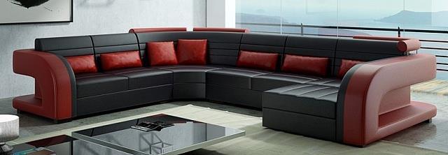 luxusní moderní rohová sedací souprava Vivus U chojm
