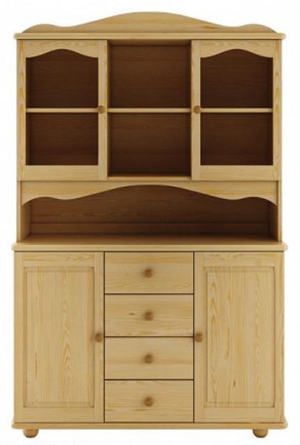 dřevěný kredenc, příborník z masivního dřeva borovice KW103 pacyg
