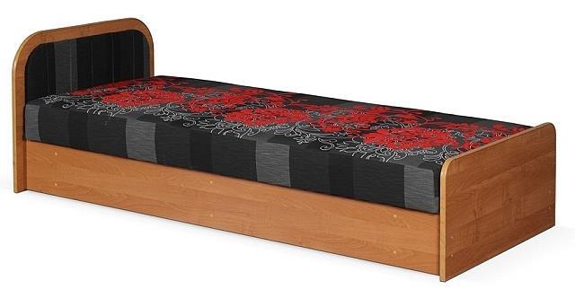 čalouněná jednolůžková postel, s úložným prostorem Loze M chojm