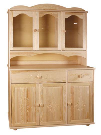 dřevěný kredenc stylový z masivního dřeva borovice P05 drewfilip