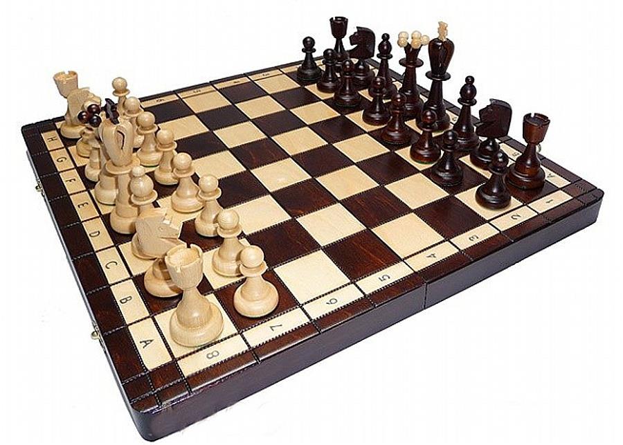 dřevěné šachy tradiční Asy 115 mad