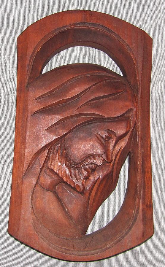 dřevěná dekorace, dřevořezba Ježíš